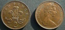 Rare New Pence 2p coin 1971 Collectors coin