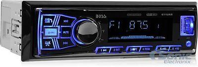 NEW! Boss 611UAB Single DIN Bluetooth USB AUX Car Stereo Radio + FREE DASH KIT!