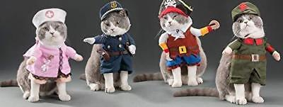 US SHIP Dog Cat Halloween Cute Costume Pet Police/Nurse/Pirate/Totoro/Cow-boy - Police Dog Costume Halloween