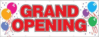 3x8 Ft Grand Opening Vinyl Banner Sign New - Rw