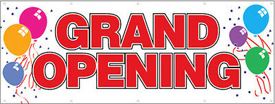 Grand Opening Vinyl Banner Store Open Business Sign 2x6 Ft - Rw