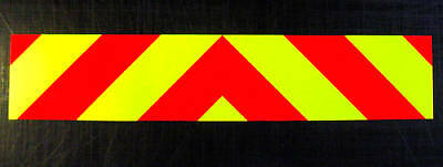 Magnetic Rear Chevrons Reflective + Fluorescent 1000mm