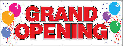 4x12 Ft Grand Opening Vinyl Banner Sign New - Balloons Wb