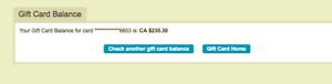 Ticketmaster gift card $235.30 CAD value