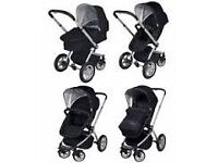 black mothercare my4 pram with colour pack from birth to 3 years antrim