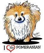 Pomeranian Dog Tshirt Nightshirt Kiniart Pet