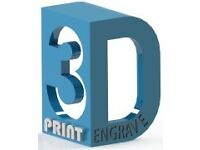3D Printing, Laser Cutting/ Engraving and 2D/3D CAD Design