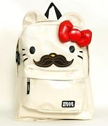 NWT-Loungefly-Hello-Kitty-Mustache-Backpack-with-Ears-3D-Bow-by-Sanrio-Ivory