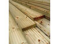 Timber decking £1.32 per mtr long lengths