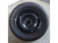 mk5 standard steel wheels set of 4 with good tires and hub cap's