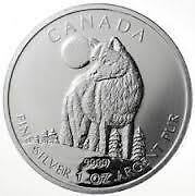 1oz  .9999 Pure Silver Wildlife Serries Coins