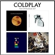 COLDPLAY '4 CD CATALOGUE SET' Parachutes/X&Y/Viva La Vida/Rush of Blood (2012)