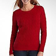 St. John's Bay Women's Sweaters S M L PM PL PXL Red Brown Black Gold Green