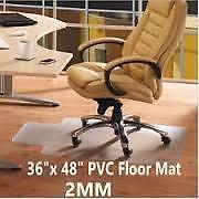 "NEW Clear Chair mat Standard Low Pile Rectangle 36"" x 48"" with Lip (19"" x 10"" ) & grippers Chairmat"