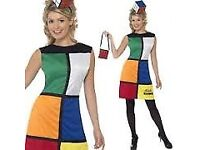 80s RUBIKS CUBE OUTFIT SIZE 8 ITS ONLY FOR THE DRESS PARTY OR HEN DO