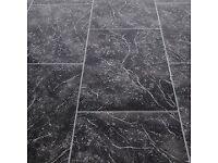Floorgrip Trento Stone Tile Effect Vinyl Flooring (Lino) 2m x 3m 6sqm