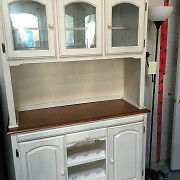Beautiful Parchment White Hutch - **VISIT WEBSITE TO ORDER**