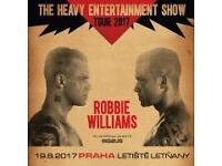 2 x Robbie Williams Tickets for Prague 19/8