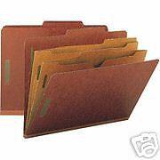 Smead 14079 Pocket Style Classification Folders Letter 2 Partitions 28 Count  Pocket Style Classification Folders