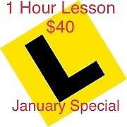 1 hour learner lesson $40