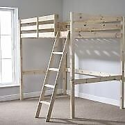 Loft bed: small double high sleeper FREE