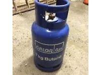 Calor gas 7kg butane gas bottle + regulator