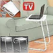Portable, Multi Purpose, Foldable TV Dinner Table with 6 Heights Petersham Marrickville Area Preview