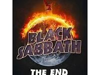 Black sabbath standing tickets Glasgow hydro Tuesday 24th January.