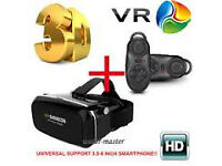 vr 3d virtual gear reality glasses with bluetooth games remote £35 each 2 for £60 ,headphones