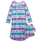 Fleece Winter Nightgown Girls Size 4 Doll Gown Christmas Holiday Pjs Dolly