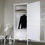 aff563ba28 White Ornate French Single Wardrobe - Elise White Range form Melody Maison,  18 months old