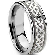 TUNGSTEN CARBIDE STAINLESS STEEL STERLING SILVER TITANIUM RINGS