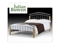 NEW AZTEC JULIAN BOWEN KING SIZE BED & DELUXE SEMI-ORTHOPAEDIC MATTRESS BARGAIN £240 CAN DELIVER