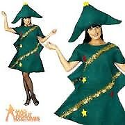 CHRISTMAS TREE FANCY DRESS OUTFIT ONE SIZE I WOULD SAY UP TO ABOUT A 14 GREAT FOR CHRISTMAS PARTY