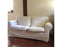 Ikea Ektorp 2 Seater Sofa and 2 sets of changeable covers in white