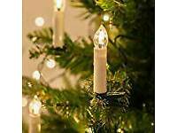 50 Warm White LED Christmas Candle Indoor Lights