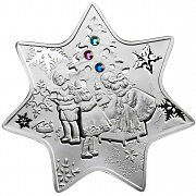 Christmas star silver proof coin