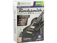 XBOX 360 KINECT ROCKSMITH ALL-NEW 2014 EDITION * PLAYED ONCE* INCLUDES REAL TONE CABLE*