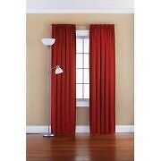 2 RED PANEL CURTAINS $30