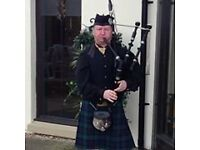 Clydebank based bagpiper for hire, weddings,funerals etc.