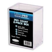Ultra Pro 250 Count Two Piece Trading Cards Storage Box