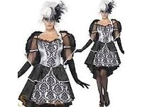 DARK ANGEL FANCY DRESS OUTFIT SIZE 8/10 COMES WITH THE WINGS PARTY OR HEN DO