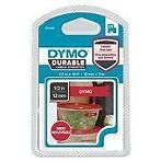 Dymo 1978366 D1 Duurzame labelcassette, wit op rood, 12...