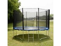 12ft trampoline with safety netting