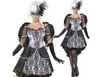 DARK ANGEL FANCY DRESS OUTFIT SIZE 8/10 GREAT FOR PARTY/PLAY OR HEN DO