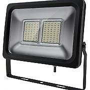 GREENBROOK 50W SLIMLINE LED SECURITY FLOOD LIGHT BLK IP65 3YR WARRANTY LEDFLS50B