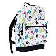 Yak Pak Deluxe Backpack Girls Book Bag White Paint Splatter Student Sack