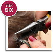iCraveBeauty - How to fit feather hair extensions - step 6