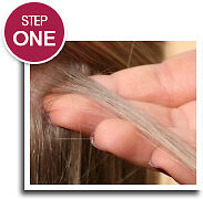 iCraveBeauty - Hoe to fit feather hair extensions - step 1