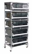 Quail Breeding Battery Cages